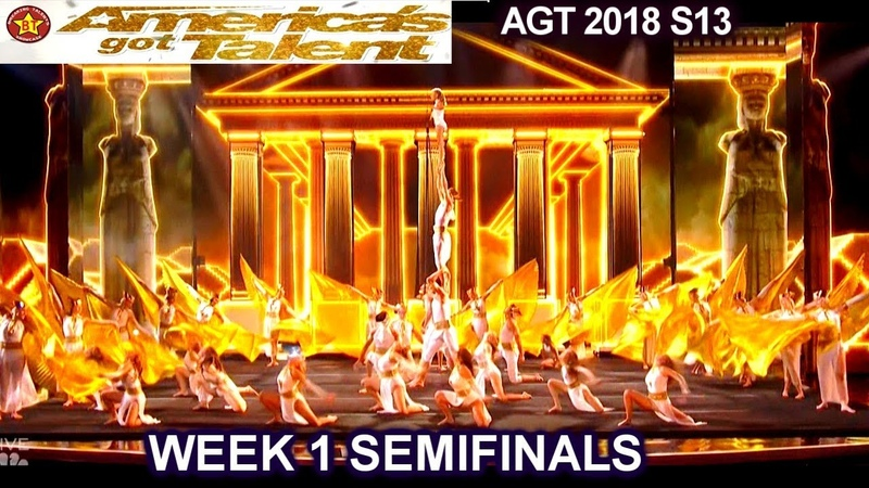 Zurcaroh Acrobatic Group A SHOW STOPPER INCREDIBLE Semifinals 1 America's Got Talent 2018 AGT