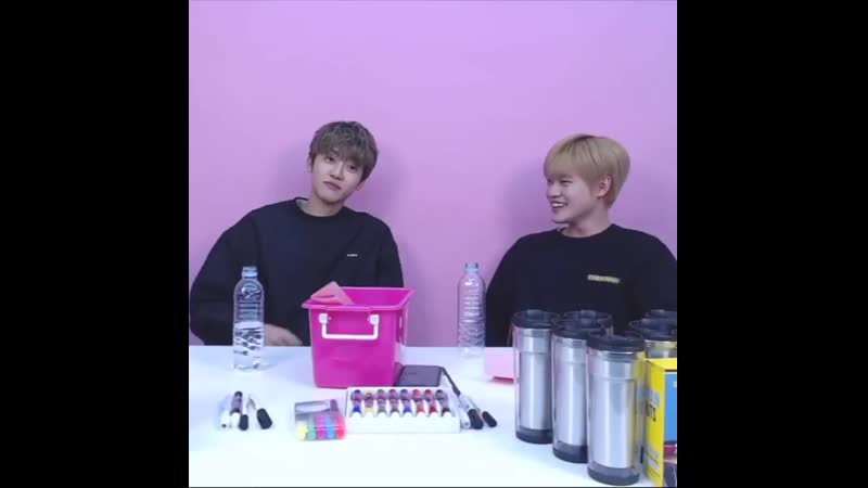 They did a challenge to see who could finish the water bottle under a certain time limit and chenle finished it fast but jaemin