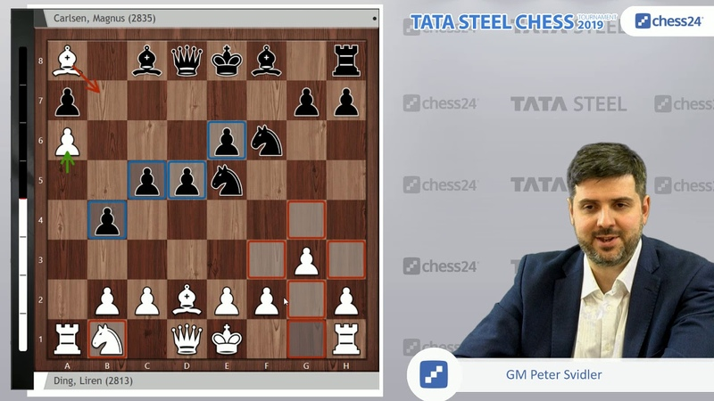 Ding Liren-Carlsen, Tata Steel Chess 2019: Svidler's Game of the Day