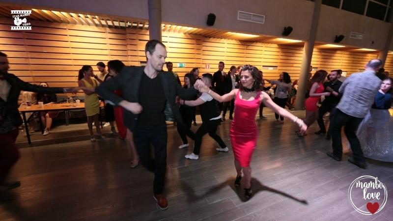 Anna Zvyagina Oleg Shevchenko social dancing @ Mambolove
