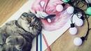 Техника рисования цветными карандашами Как рисовать ФЛАМИНГО
