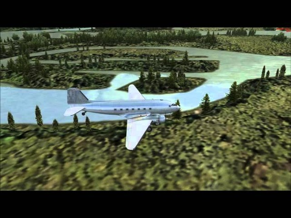 [FSX] Short field landing in Manfred Jahn's C-47 / DC-3