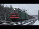 Снежные шлейфы за поездами в снегопад на платформе Заполицы Московской жд и в её окрестностях - 2.