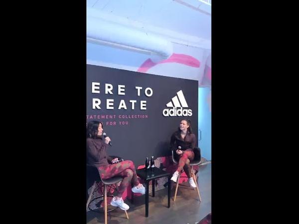 Tessa Virtue livestream Adidas CA Here to create