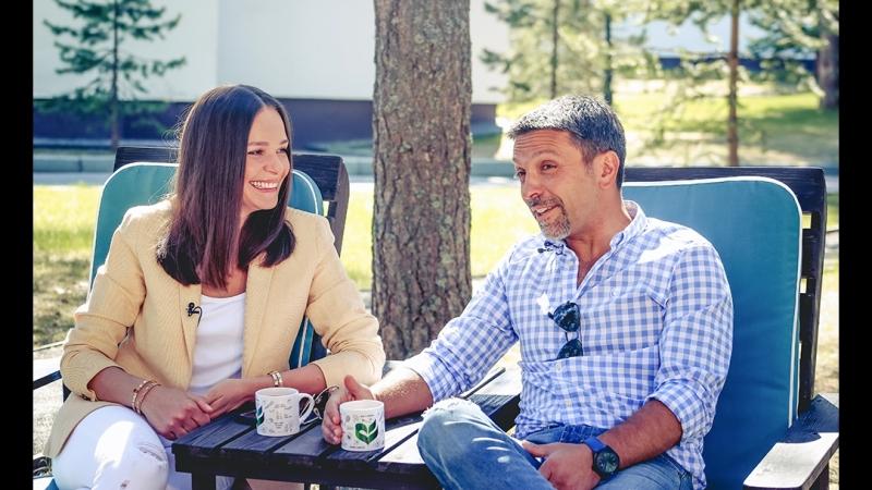 Леонид Барац и его жена Анна Моисеева в Клинике