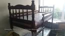 Кровать Соня орех массив сосна 0,9 м двухъярусная Браво Мебель