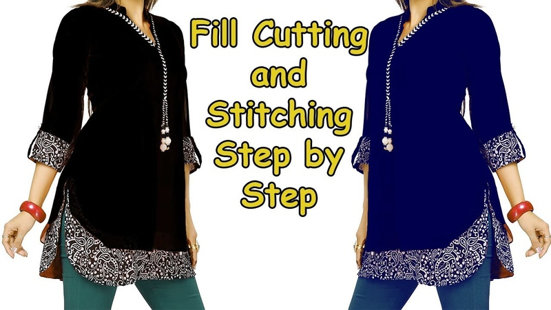 DIY Designer Top Cutting and Stitching with Designer Sleeves