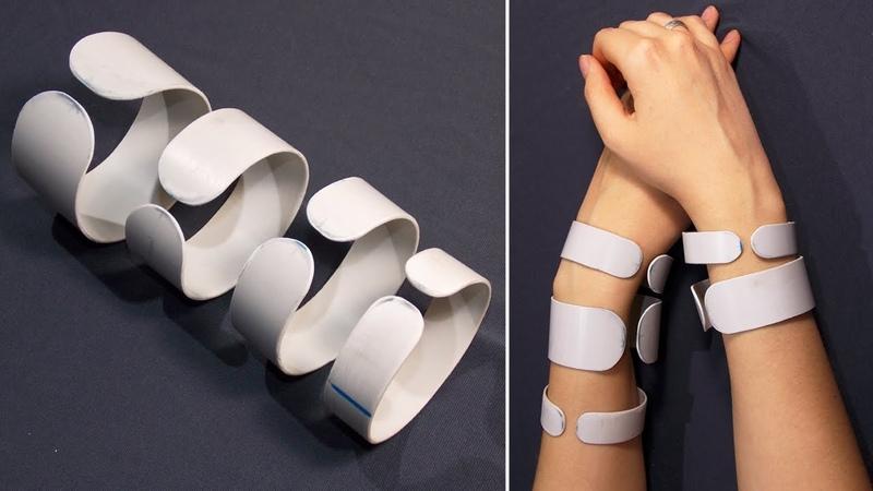 Как сделать основу для браслета из пластиковой ПВХ трубы