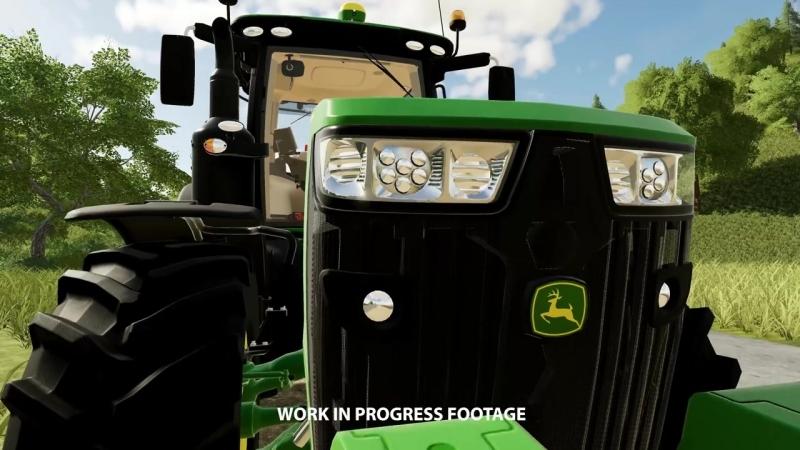 Трактор John Deere 8400R в новом трейлере игры Farming Simulator 19!