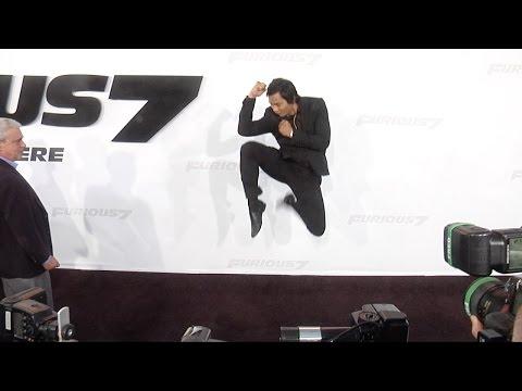 Tony Jaa Furious 7 Los Angeles Premiere STUNTS