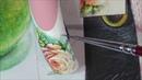 РОЗОЧКА акварелью на ногтях роза на ногтях Флористика ДИЗАЙН НОГТЕЙ Nail art painting