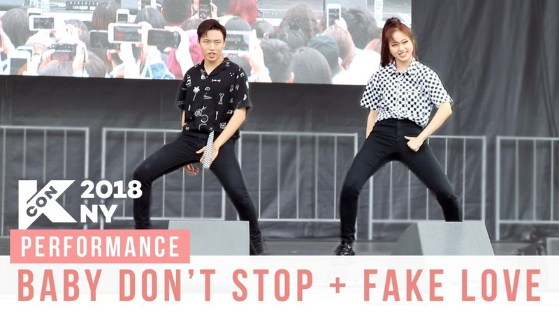 KCON Baby Don't Stop Fake Love Performance Ellen and Brian