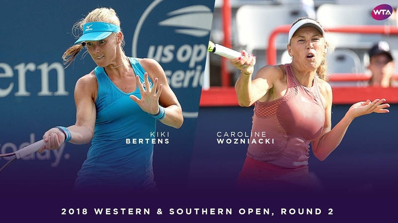 Kiki Bertens vs. Caroline Wozniacki | 2018 Western Southern Open Round Two | WTA Highlights