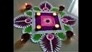Innovative and Creative Rangoli for Deepawali|Easy Rangoli by Shital Mahajan.