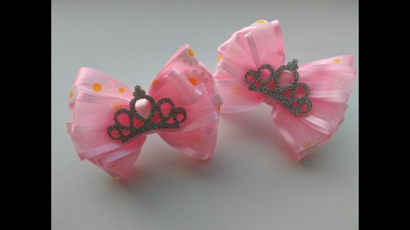 Бантики для принцесс из лент МК Канзаши / Fitas para as princesas de fitas