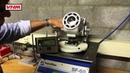 VHM exhaust port flow measurement with VHM's top flat radius and 4° pistons