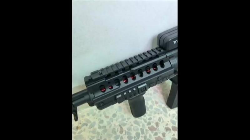 M4 SKD (GEARBOX NYLON) GEL GUN!