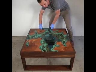 Оригинальный стол, как вам такая идея?