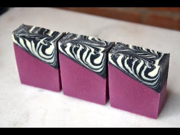 Zebra Glam Cold Process Soap Design Tutorial