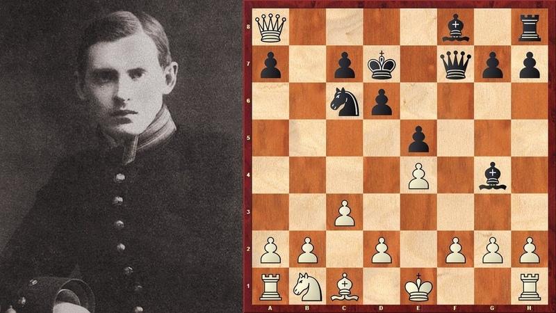 Шахматы. Чудесный ШАХМАТНЫЙ СПЕКТАКЛЬ в исполнении Александра Алехина!