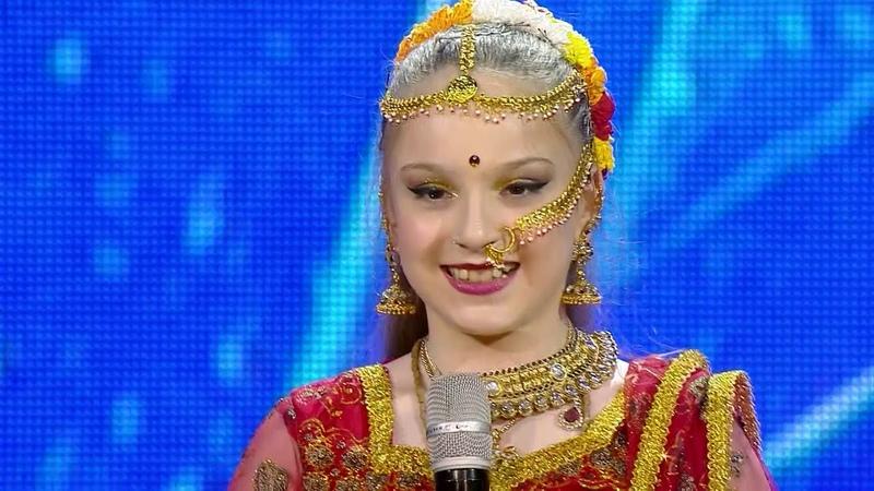 12 წლის ქრისტინეს ინდური ცეკვა | ნიჭიერი, მეხ4323