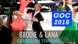 Brodie Barden &amp Lana Skrgic-de Fonseka Медленный фокстрот GOC2018 GrandSlam STANDARD - 3тур
