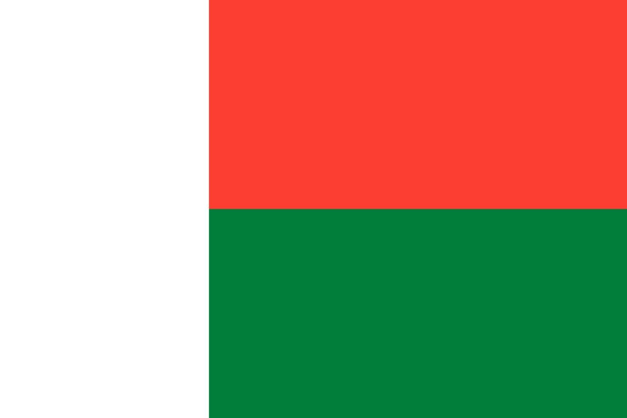Флаг Мадагаскар