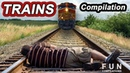 HORRIBLE TRAIN CRASHES Cars Trucks vs Trains Accidents Level Crossings Compilation !