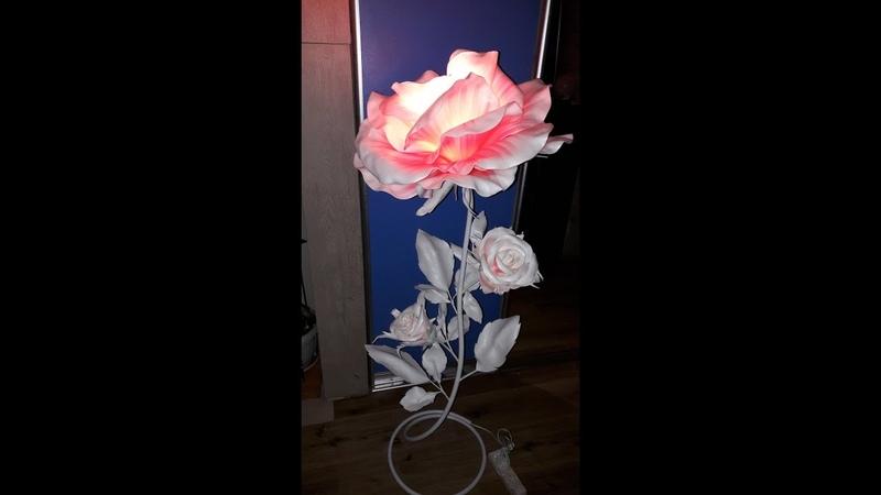 торшер своими руками торшер из изолона роза торшер роза распустившаяся из изолона Часть1