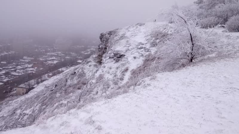 Вид на Пятигорск с предгорья Машука