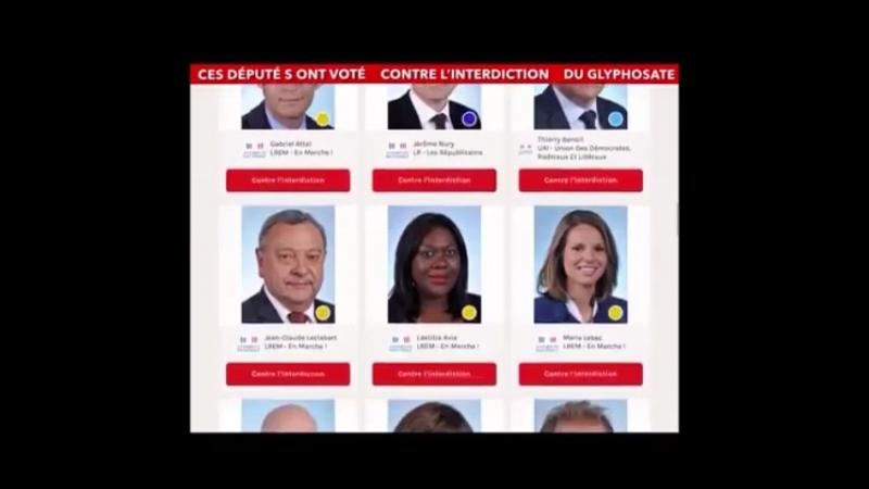 France : Liste des 42 députés pro-glyphosate