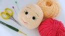 AMİGURUMİ YÜZ ŞEKİLLENDİRME!- Ağız ve Göz Çukuru, Kirpik ve Kaş Yapımı - Amigurumi Face Shaping