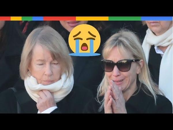 Katia Aznavour en larmes lors de l'h0mmage national à Charles Aznavour