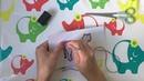 Развивающие видео и игры для детей - Игры по методике Монтессори - Шнуровка - Тигренок ищет полоски