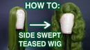 How To Style Side Swept Teased Hair!