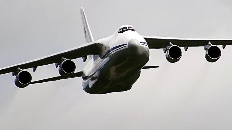 Самый большой в мире серийный транспортный самолет Ан-124-100 Руслан| Посадка | Тверь | Мигалово