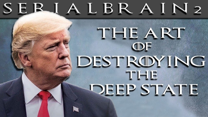 SerialBrain2 Trump's Cabinet Meeting Poster The Art of Destroying the Deep State