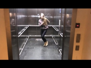 Olga elevator dance with vitamin D - heels  wetlook legging  handstand