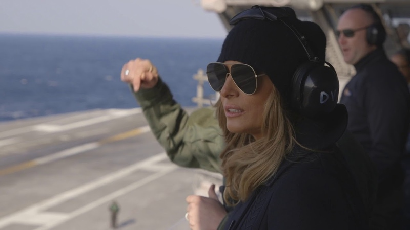 First Lady Melania Trump Visits USS George H.W. Bush Military Bases