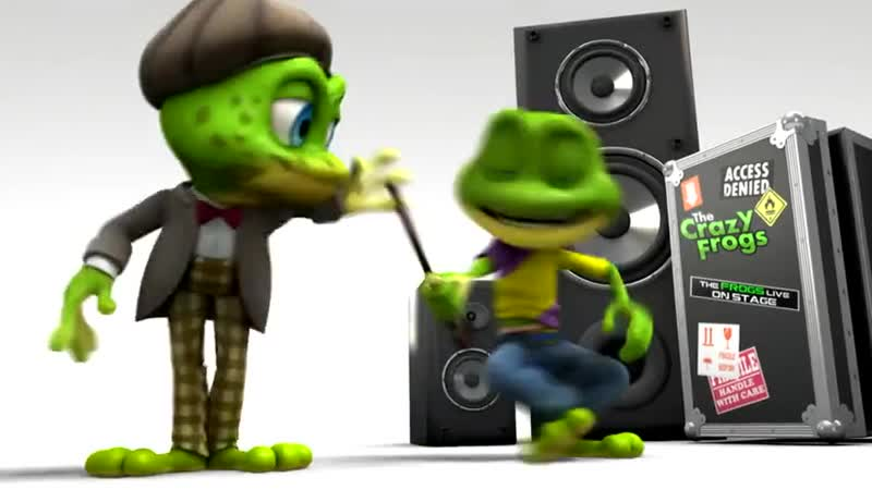 Смешной лягушонок - Клип The Crazy Frogs - The Ding Dong Song