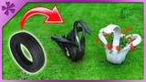 DIY How to make car tire swan (+special guest)(ENG Subtitles) - Speed up #500