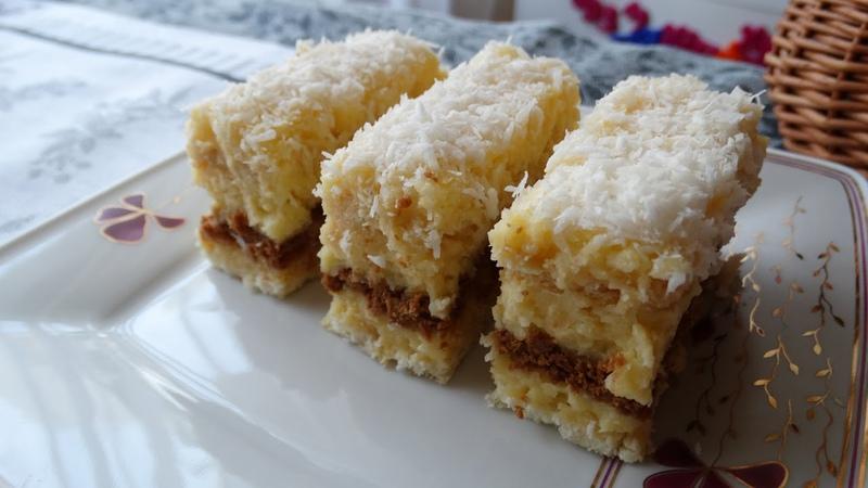 Польский торт Рафаэлло с печеньем, пудингово- заварным кремом, кокосовой стружкой, без выпечки Raffaello z adwokatem