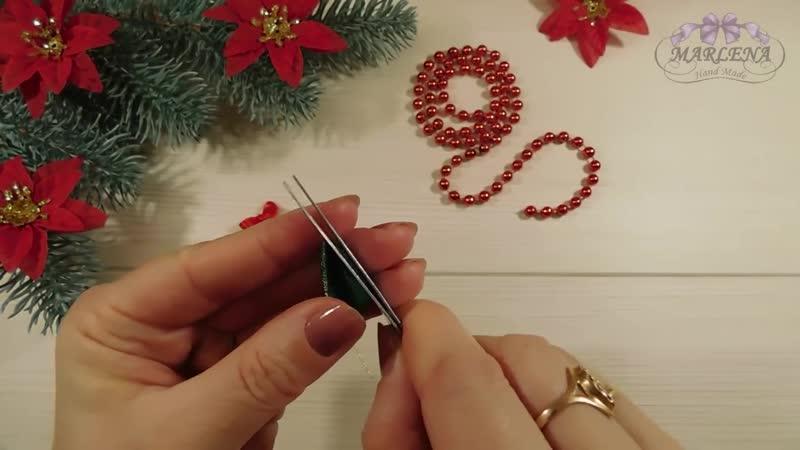 ЁЛОЧКИ-ЗАКОЛОЧКИ 🎄. Новогоднее украшение для волос. Канзаши МК_DIY