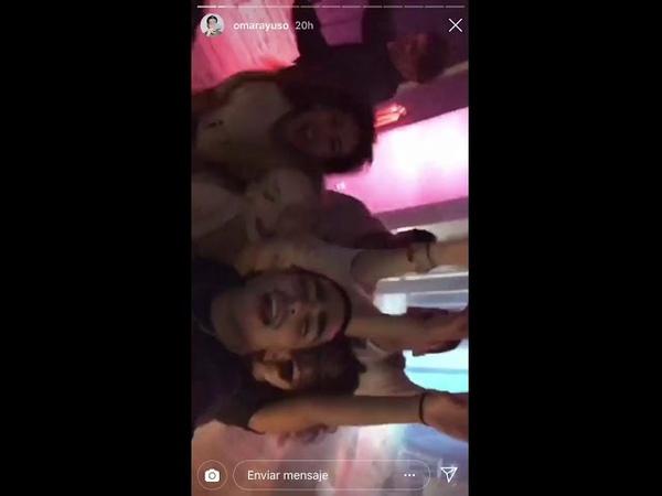 Omar Ayuso Aron Piper Álvario Rico Ester Expósito y Danna Paola de fiesta con ÉLITE