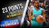 Kemba Walker Full Highlights 2019.04.09 Hornets vs Cavs - 23 Pts, 7 Assists! FreeDawkins