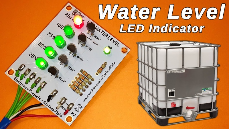 Water Level Indicator with LED - PCB Tutorial - By STE