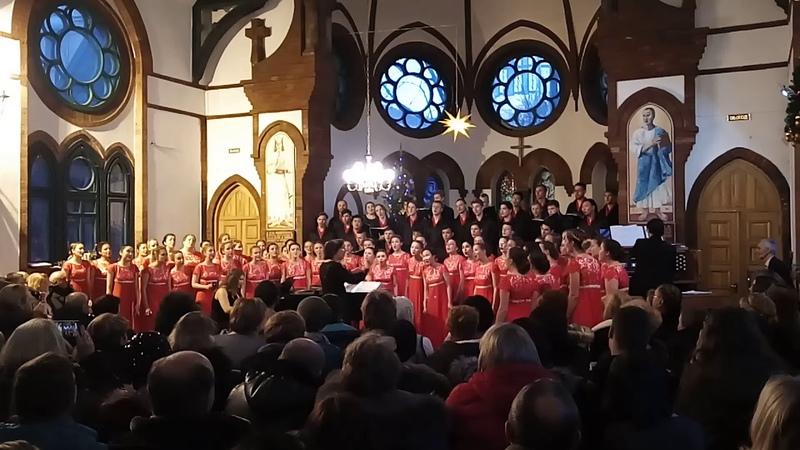 Хор ДВФУ - Carol of the Bells - лютеранская кирха г. Владивосток