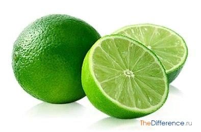 Разница между лимоном и лаймом