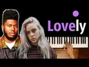 Billie Eilish Khalid - Lovely ● караоке PIANO_KARAOKE ● ᴴᴰ НОТЫ MIDI