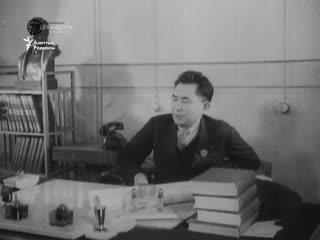 Қаныш Сәтбаевтың Сталиндік сыйлық алған сәті